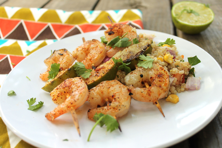 Chili-Lime-Grilled-Shrimp-with-Quinoa-Pilaf